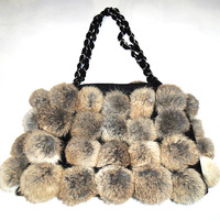 RETON New Luxury wholesale Ladies Fluffy Fur Bags Fox Fur Handbag For Women