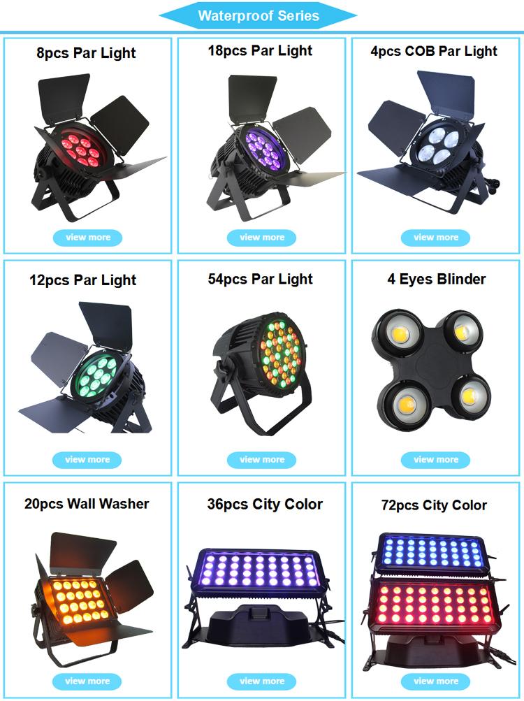 Étanche ip65 led zoom dmx éclairage 15x12w rgbw 4in1 pair de bourdonnement de led lumière