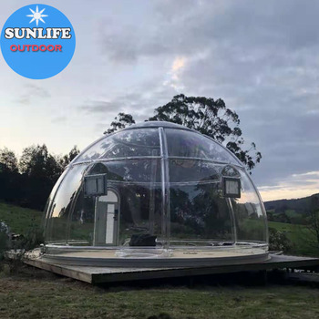 2020 New Geranation Outdoor clear polycarbonate dome clear bubble dome for Camping tours