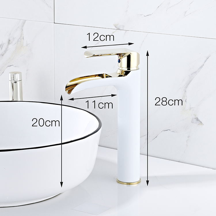 Sanitary Ware New Design High Quality Single Lever Hot Cold Water Mixer Basin Faucet