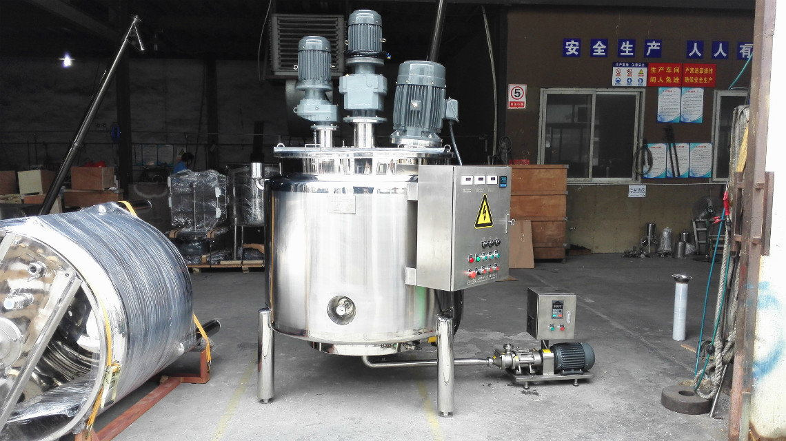 Paslanmaz çelik sıvı sabun karıştırma ekipmanları/Kozmetik kremler karıştırma tankı