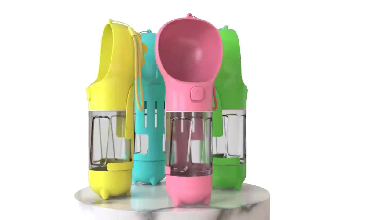 Distribuidor Do Copo De Beber 300ML de Estimação Ao Ar Livre Portátil Garrafa de Água Cão para Caminhadas Viagem