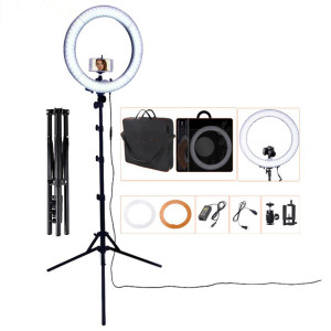 55W 18 dimmable led selfie ring light for live stream selfie ring light with tripod stand and phone holder led