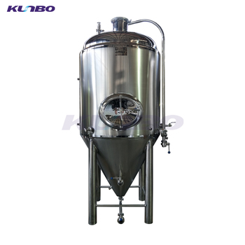 KUNBO Cooling Jacketed & Insulated Conical Beer Fermentation Tanks for Sale