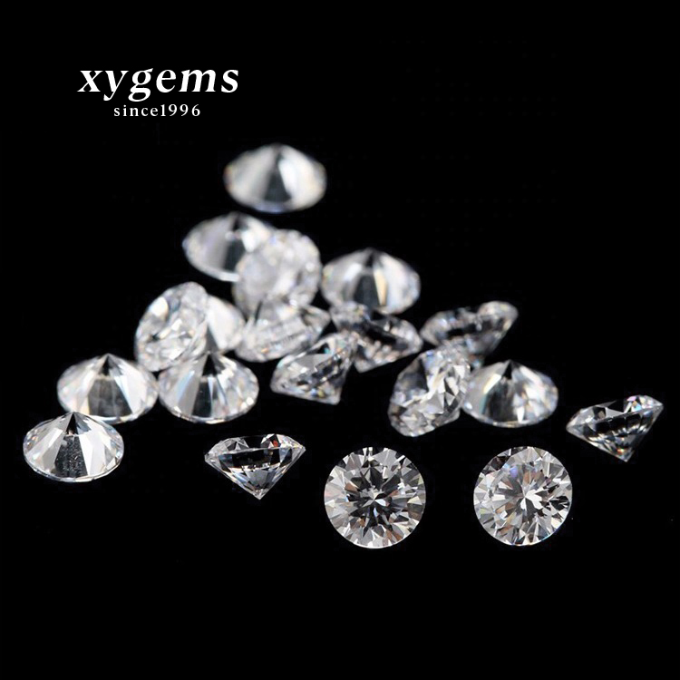 xygems high quality low price stock products 1.0mm white 8 heart 8 arrows cz loose gemstone cubic <strong>zirconia</strong>