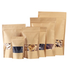 250g snack/tea/coffee/rice food ziplock stand up pouch kraft packaging paper bag with window