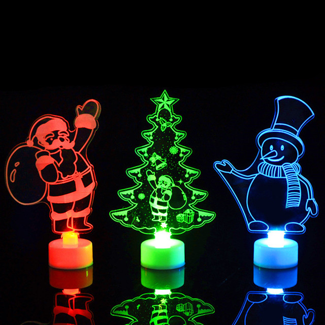 Creative Christmas Tree Night Light LED Multicolor Home Lamp Xmas Ornaments Gift