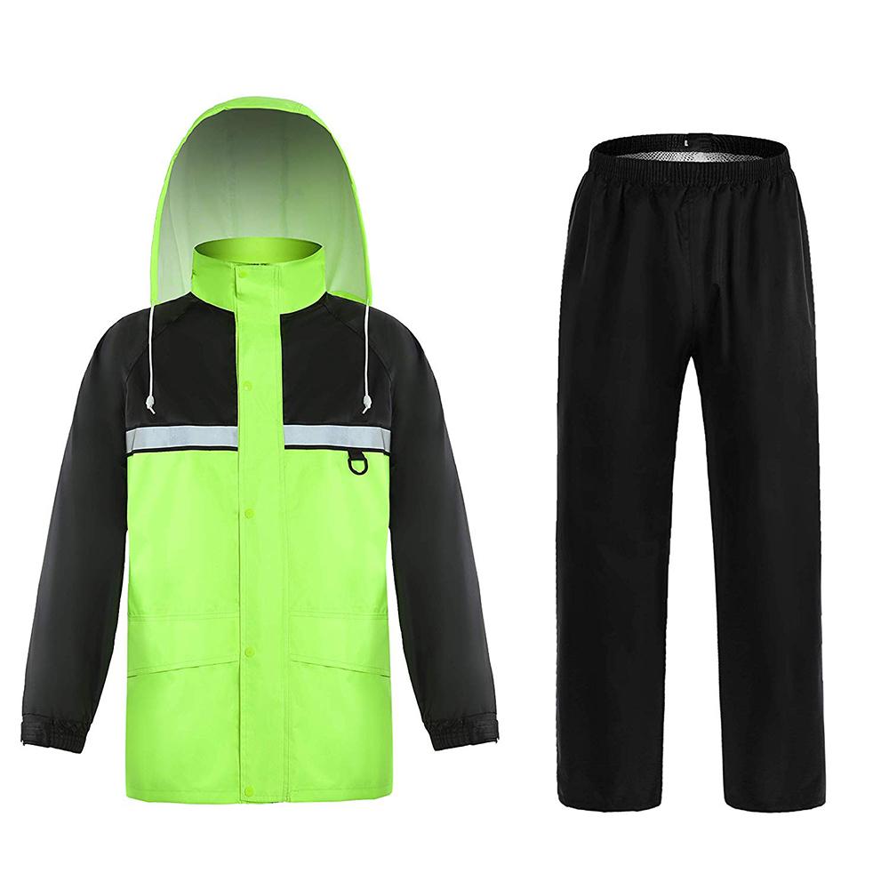 ZUJA noir coupe-vent imperméable poches extérieur fermeture éclair sécurité combinaison de pluie