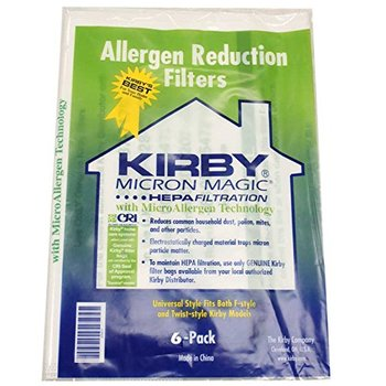Kirby Allergen Reduction Filters Vacuum Cleaner Bags,Part 204811