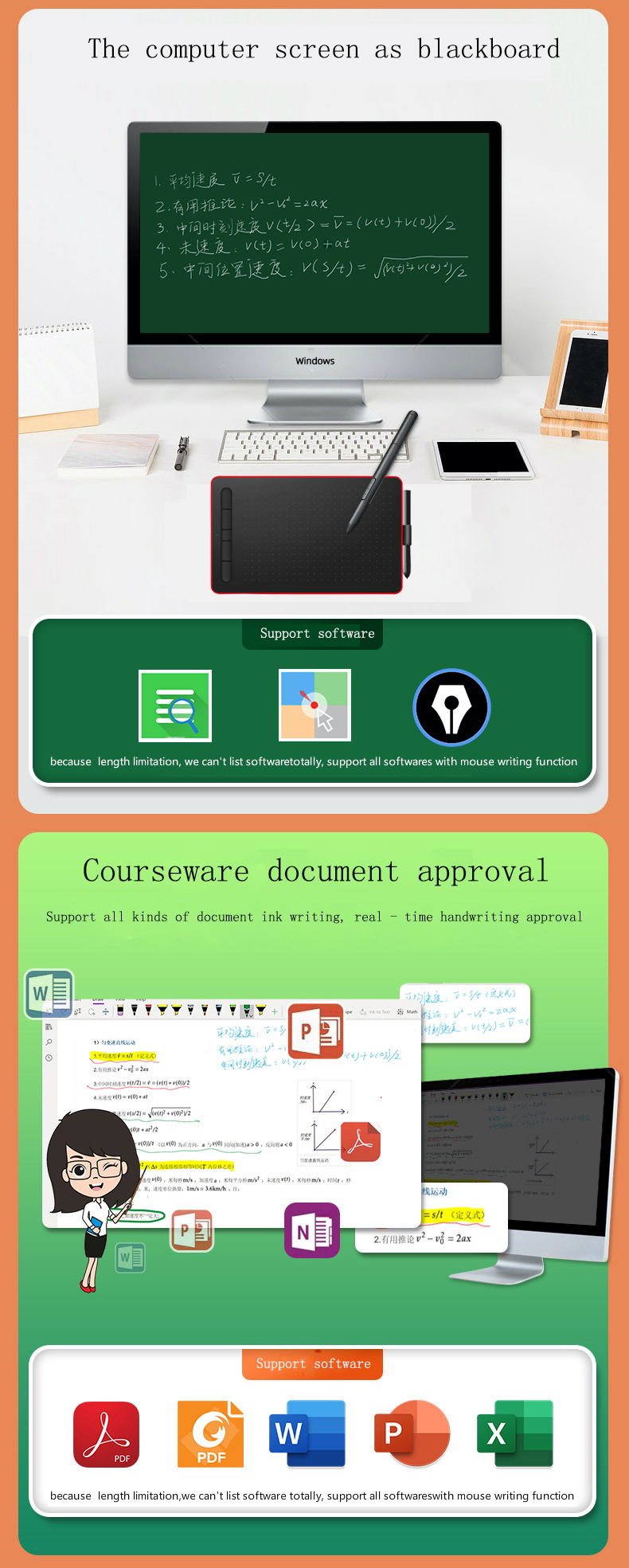 Hot selling graphics level tablet with high quality for PC online class learning