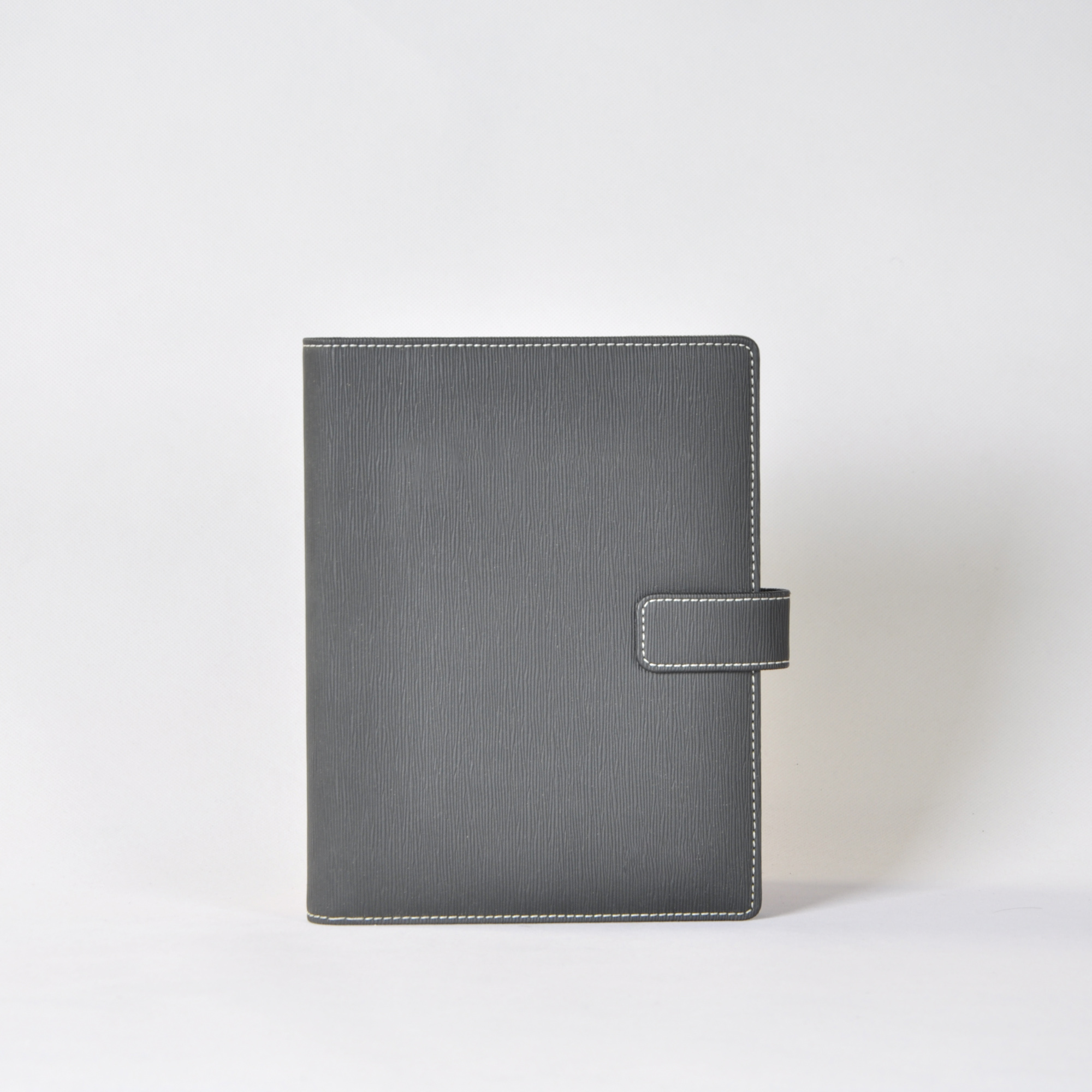 black pu leather luxury journals with card slot a5 journal with clasp and binder