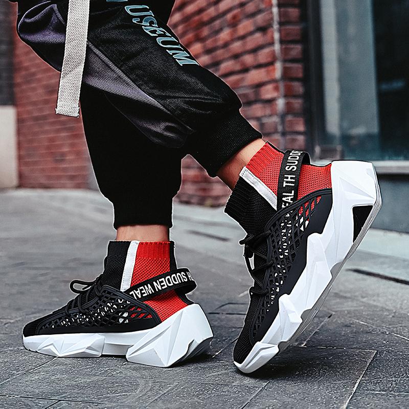 Высокие мужские кроссовки для бега, Мужские дышащие кроссовки на толстой подошве, спортивная обувь на заказ, упаковка логотипа для дропшиппинга