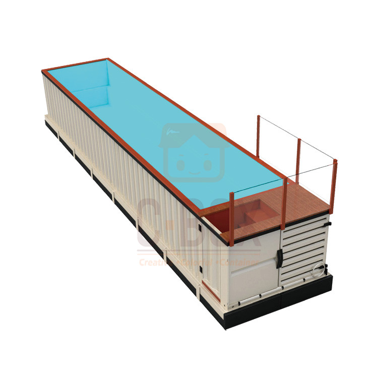 steel container swimming pool