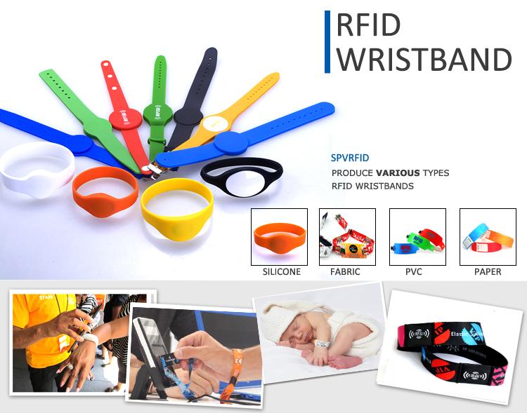 एनएफसी सिलिकॉन Wristband Mifare चिप