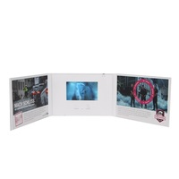 New Horizontal Open Gate Fold Cover 4.3 inch A5 A4 HD Player Hardback Video Brochure