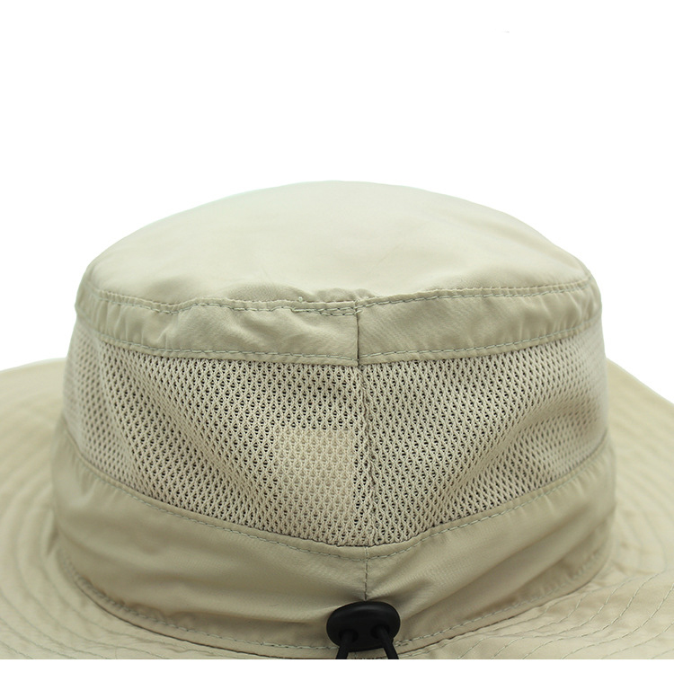 custom wide brim safari hat quick dry fisherman camping bucket hat with string