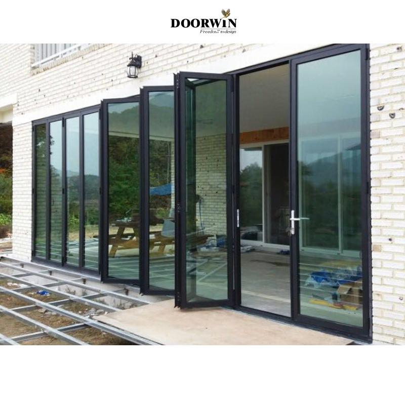 Lightweight aluminium plexiglass Australia standard folding door Asian style bi-fold windows and doors