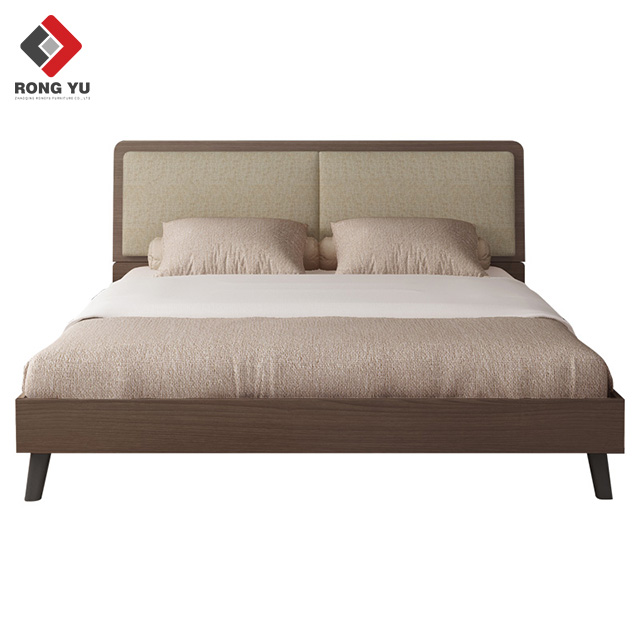 Modern contracted <strong>bed</strong> 1.8m bedroom furniture with soft Nordic master bedroom economy 1.5m board <strong>bed</strong>
