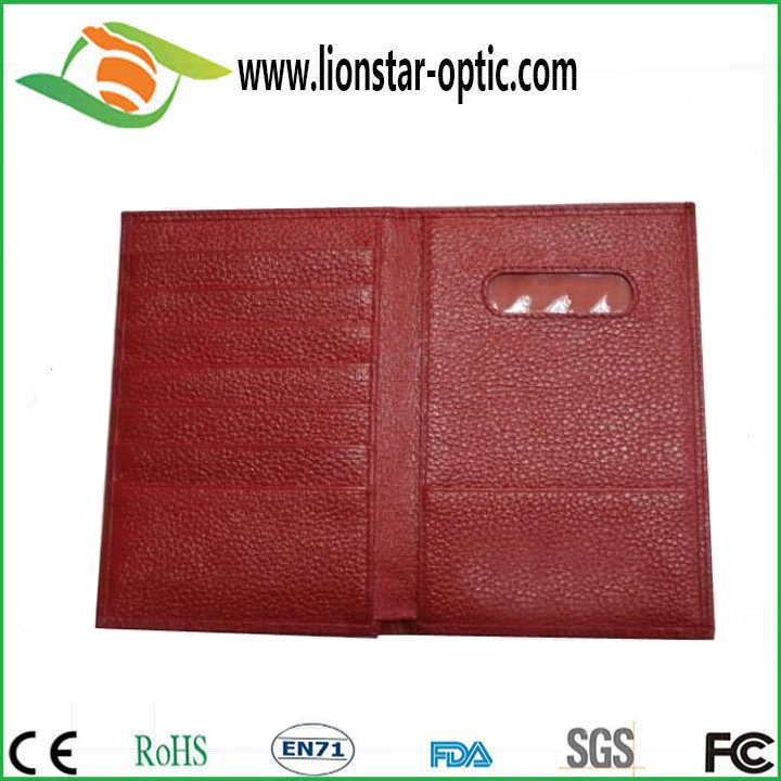 High Quality Customized Color Id Credit Card Holder Travel Card  Holder Fashion Leather Wallet Manufacturer