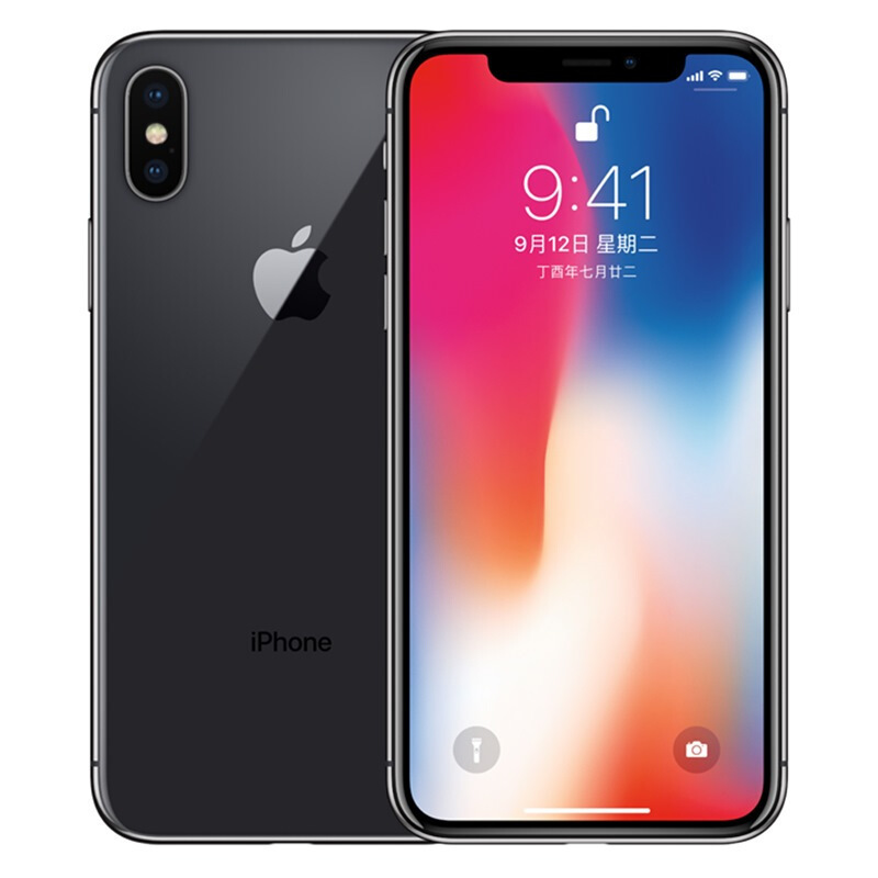 Unlocked Apple Used iPhone X Face ID 64GB ROM 5.8 inch Mobile Phone 3GB RAM 12MP Hexa Core iOS A11 Dual Back Camera 4G LTE
