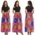2020 Summer Women Floral Print Boho 6XL plus size dress Beach Long Dress Short Sleeve Maxi causal dress