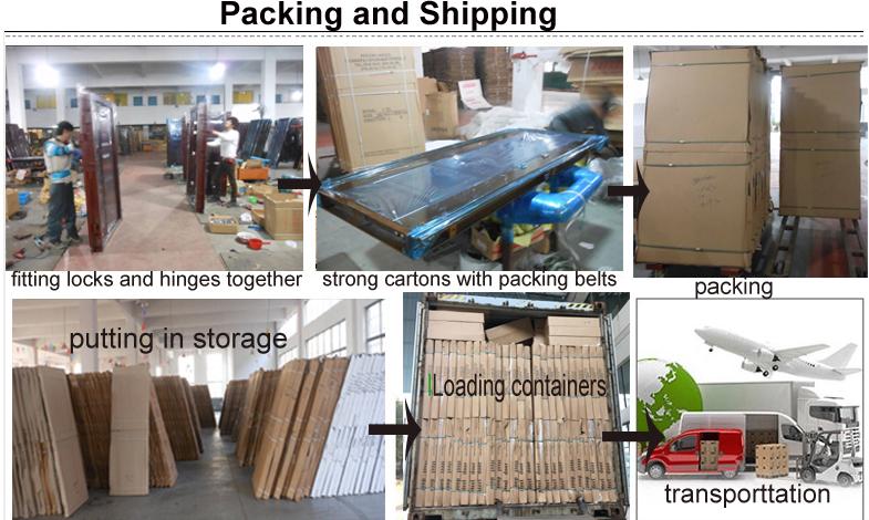 Zhejiang yongkang fabrik Professionelle sicherheit gepanzerte tür Sicherheit Stahl Tür mit Rahmen