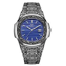 Мужские кварцевые часы ONOLA, кварцевые наручные часы с золотым циферблатом, классическим дизайном, для повседневного ношения, 2020(Китай)
