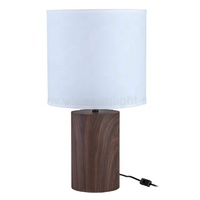 UL CUL Approved American Style Hotel Project Antique Wooden Color Iron Base Table Lamp Manufacturer T20473