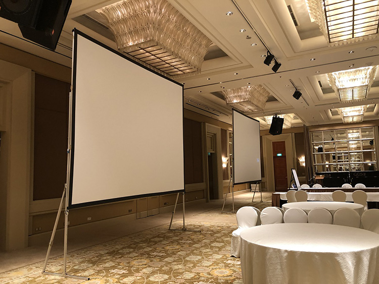 Large Size 250 Inch 4:3 Multifunction Aluminum Alloy Frame Outdoor Quick Fold Projector Screen With Carry Bag