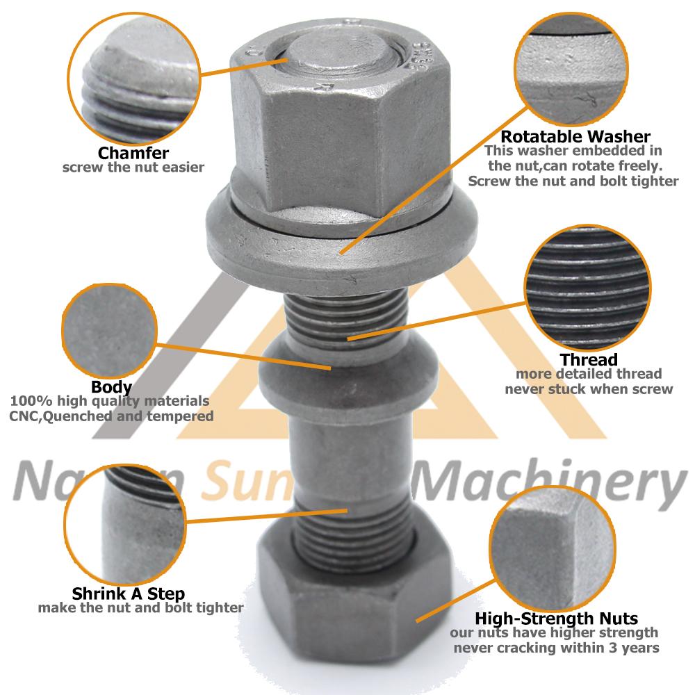 中国メーカー鋼ボルト高引張強度