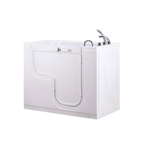 frp bathtub separate bath tub with seat&open door for elderly people