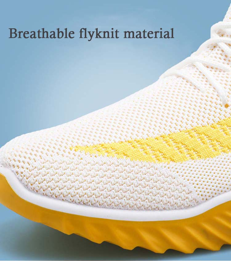 Hot sale fly knit mens comfortable custom sports shoes casual sneakers