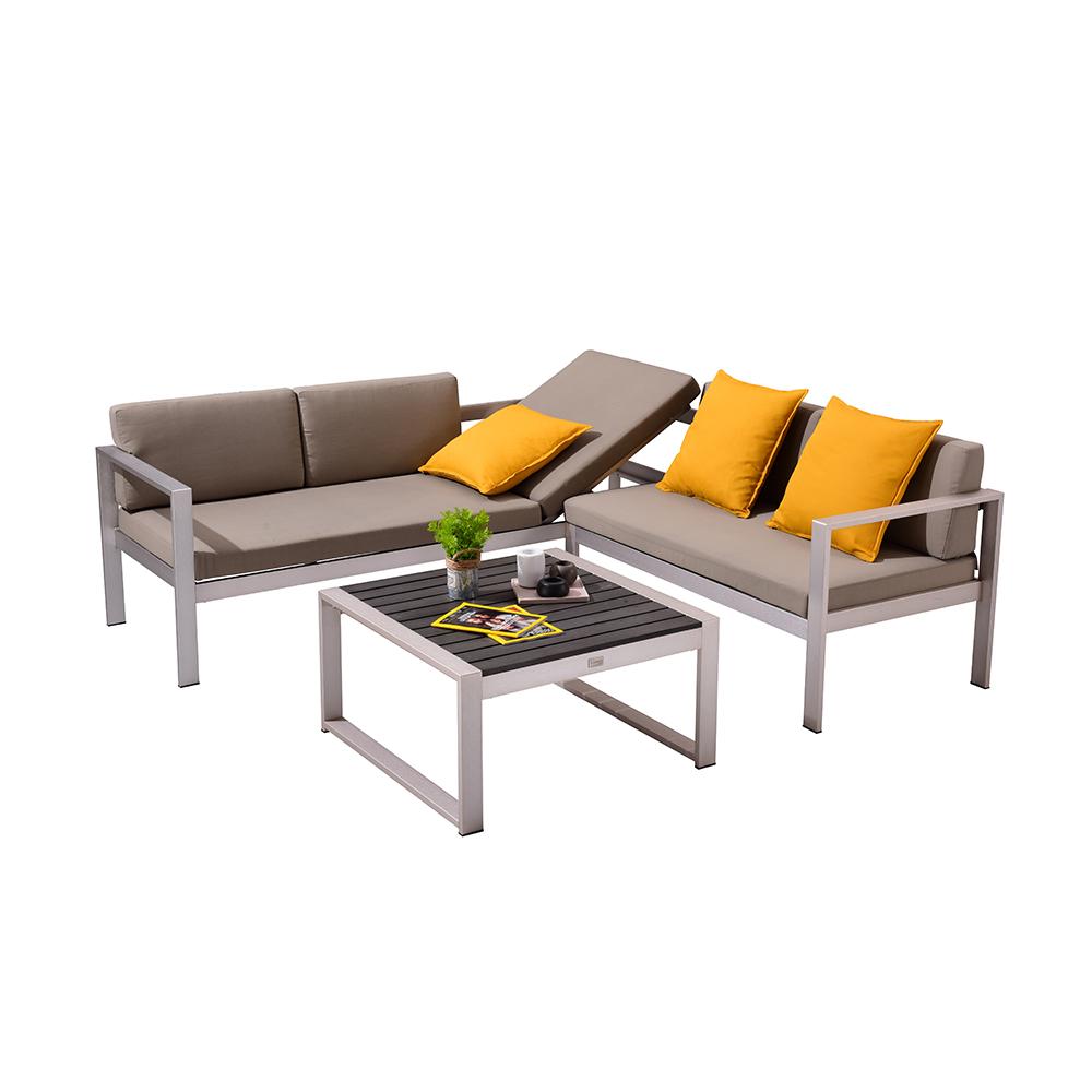 Sectional Sofa Patio Modular Aluminum