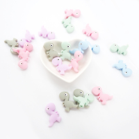 Bpa Free baby Teether Teething Loose Soft Wholesale Dinosaur Animal Silicone Beads