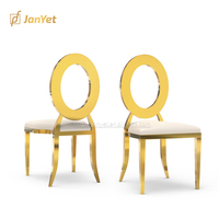 Wholesale luxury royal event designer gold stainless steel dining chair for sale