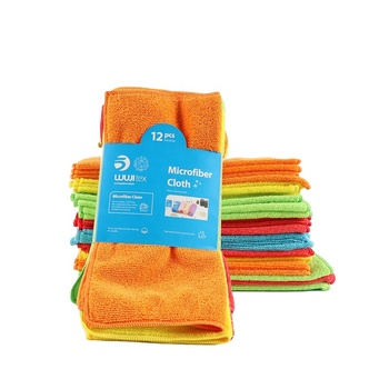wholesale standard size kitchen clean plain colour microfiber cloth