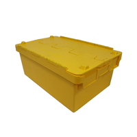 hot sale stackable and nestable plastic crate with lid