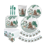 Wholesale Animals Party Set Eco Friendly Tableware Stylish Disposable Jungle Birthday Party Supplies
