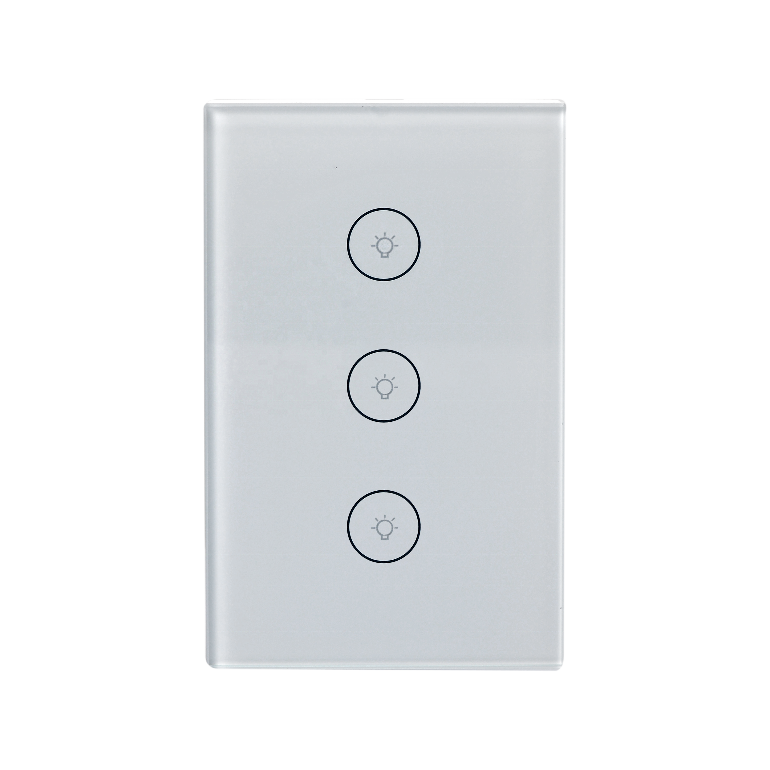 Alexa compatible US standard smart wifi wall touch <strong>switch</strong> 3gangs