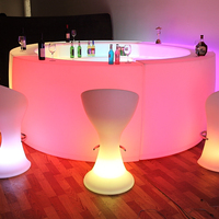 illuminated mobile bar counter/portable led bar/light bar counter