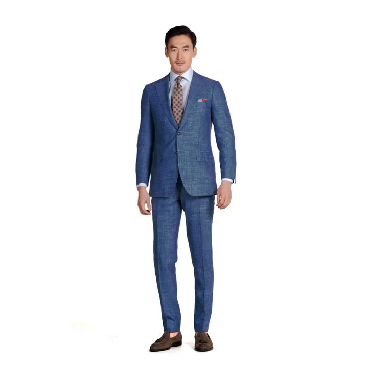 2021 MTM made to measure 2 piece men business formal suit custom handmade 3 Pieces Jacket Pant Vest Men slim Suits for men