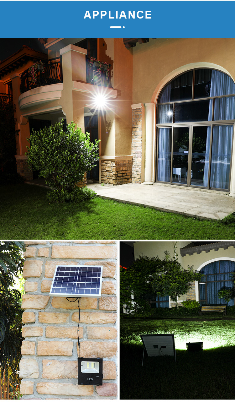 High lumenRemote Control Outdoor Waterproof IP65 20W 30W 50W 100W 200W Led Solar Flood Lamp