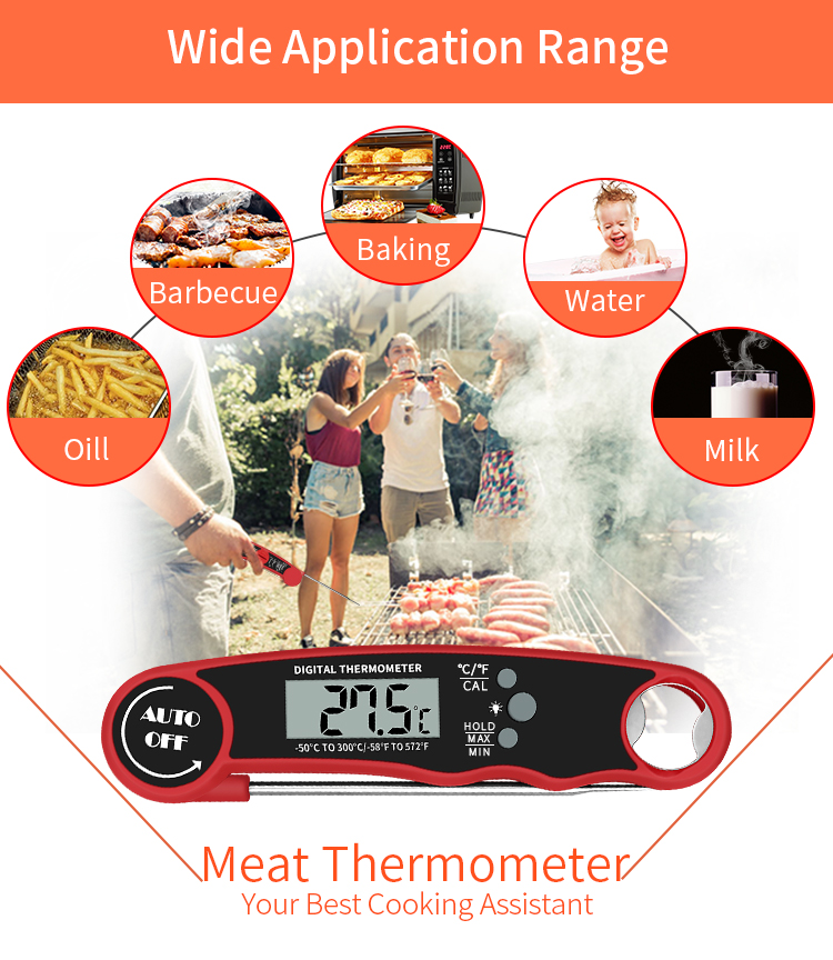 Waterproof Digital Instant Read  Meat Thermometer BBQ Oven Candy Meat Thermometer