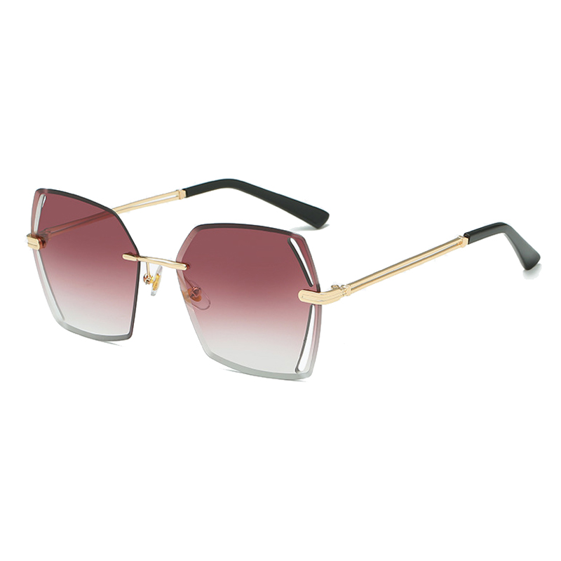 k5158 newest fashion <strong>shades</strong> rimless ocean lens sunglass <strong>custom</strong> square sunglasses 2019