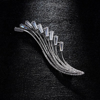 wing shaped rhinestone brooches men business suit luxury breastpin brooches accessories men women