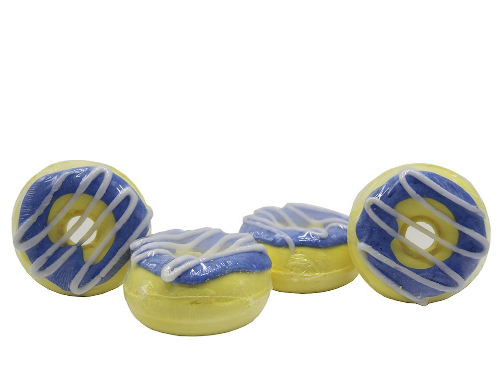 Kids Bath Bombs Wholesale Glitter Bath Bomb Organic Custom Doughnut Bath Fizzies Set of 4