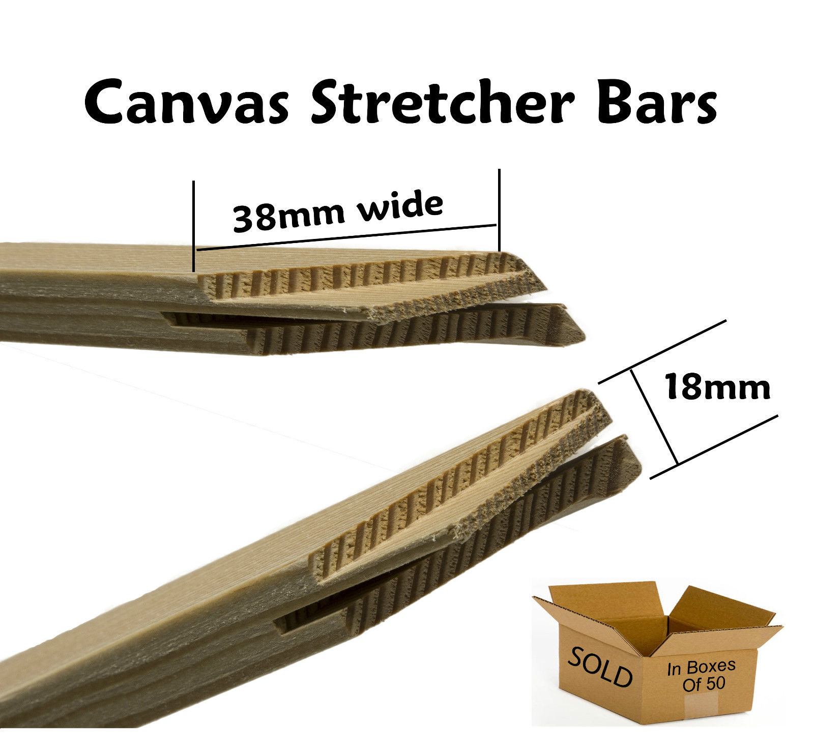 Wholesale pine wood frame canvas stretcher bars