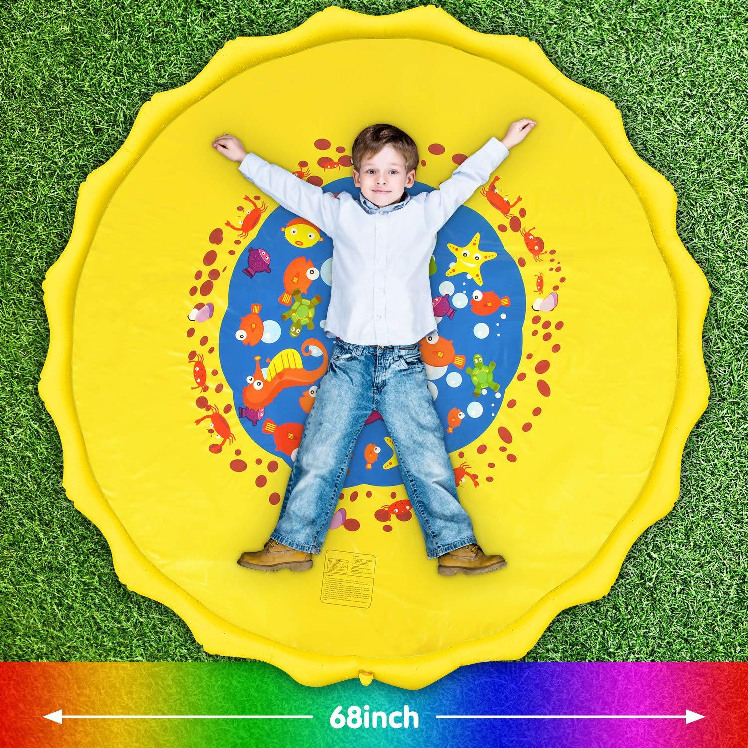 2020 outdoor garden children sprinkle splash sprinkle pad inflatable spray water play sprinkler play mat toy