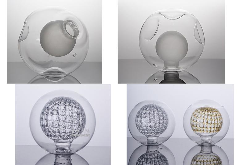 더블 유리 전구 맞춤형 병 BIY 램프 전구 유리 커버