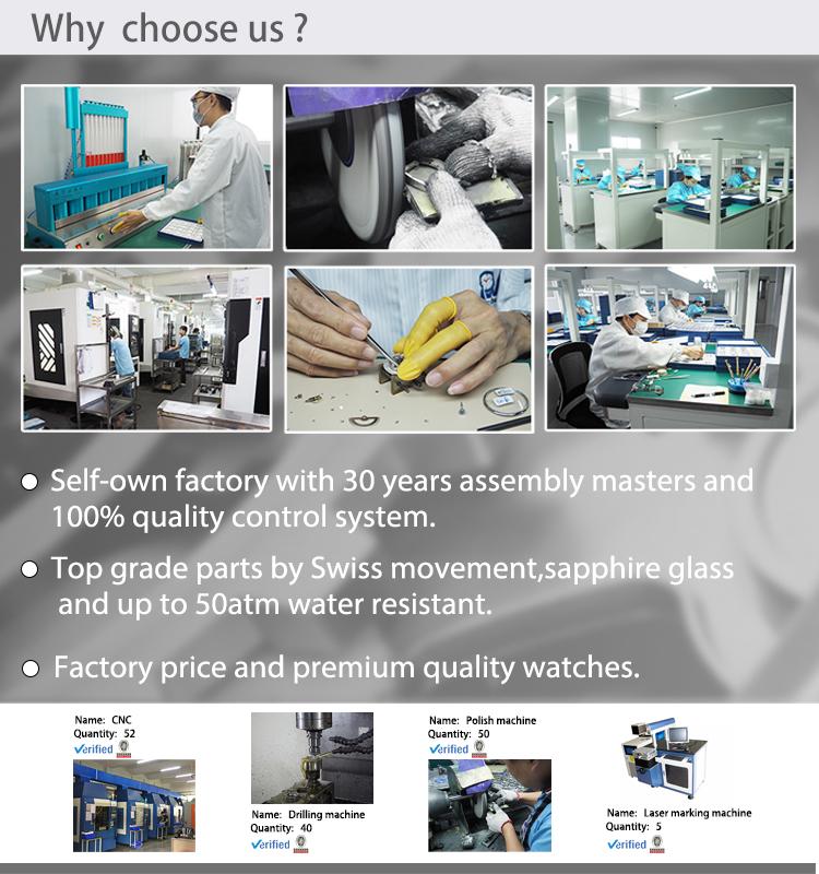 Wholesale factory price montre connectee chronograph watch luxury watch men